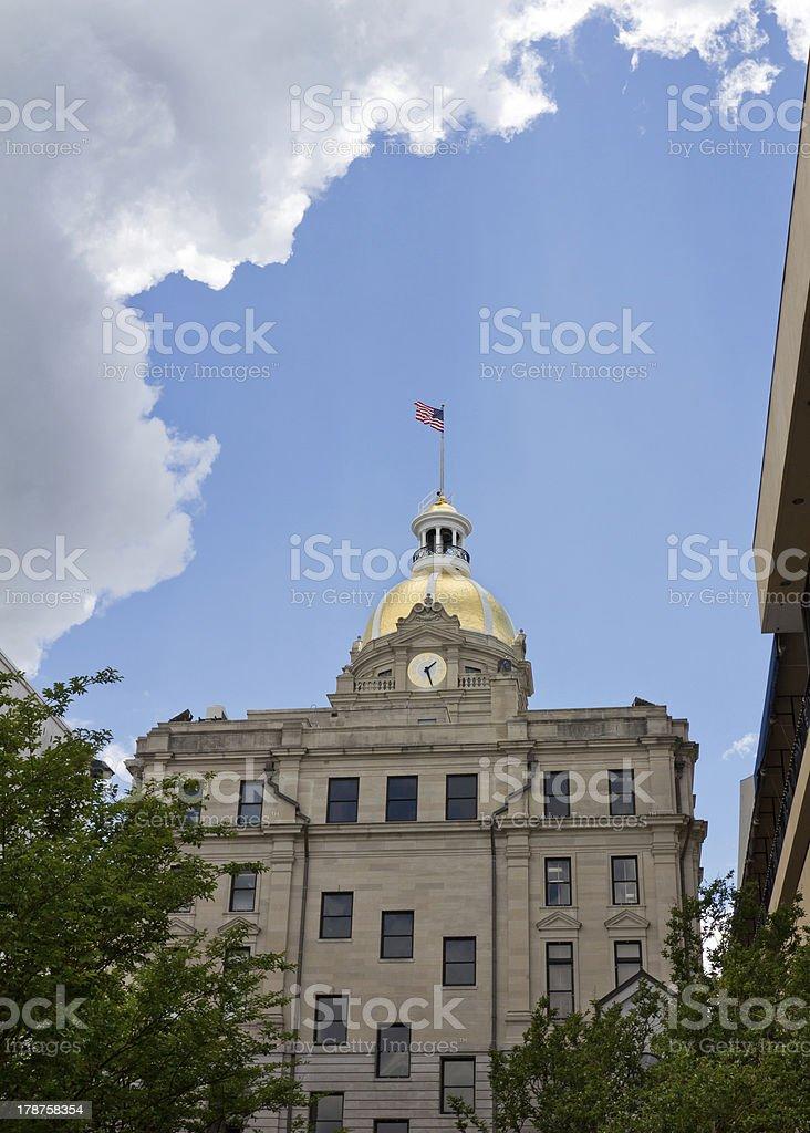 Savannah City Hall stock photo