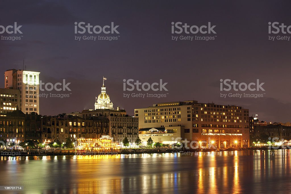 Savannah cityscape royalty-free stock photo