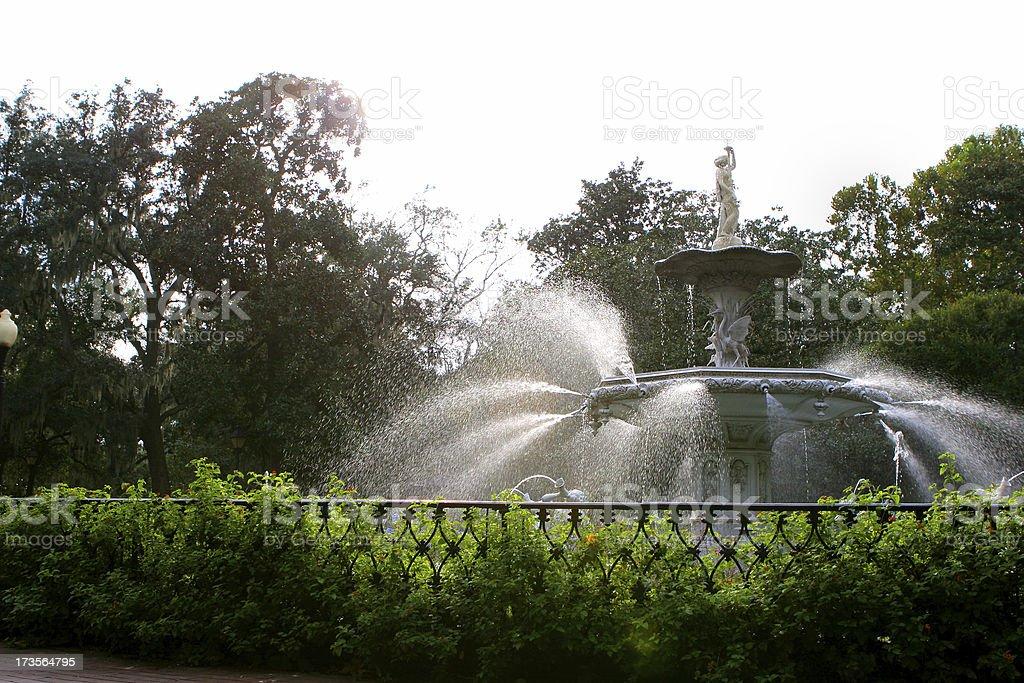 Savannah, Ga fountain royalty-free stock photo