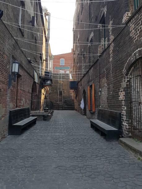 Savannah Georgia Historic Alleyway stock photo