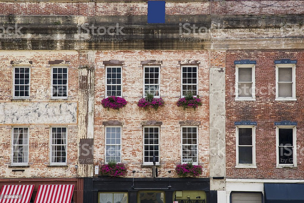 Savannah, Georgia historic buildings stock photo