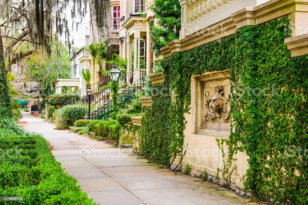 Savannah, Georgia Historic Distric stock photo