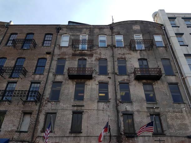 Savannah Georgia Historical Buildings stock photo