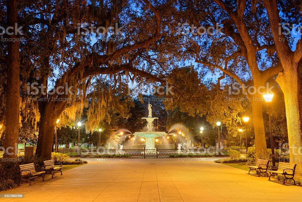 Savannah Georgia Park stock photo