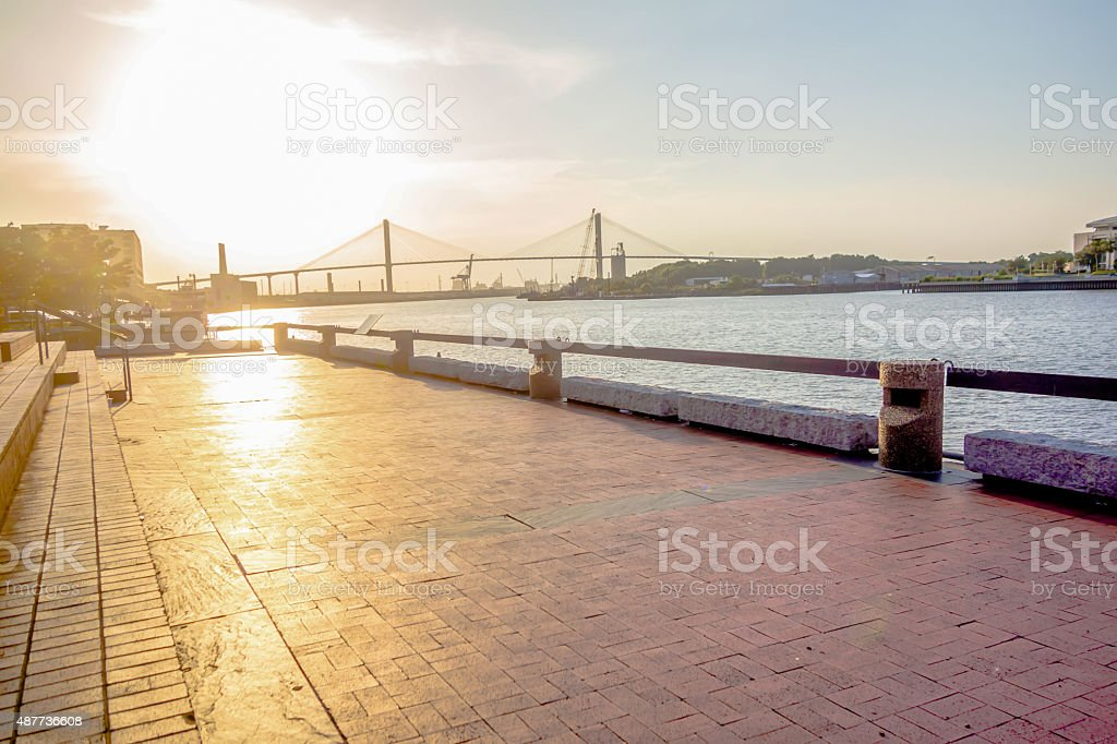 savannah georgia river street scenery savannah georgia river street scenery 2015 Stock Photo