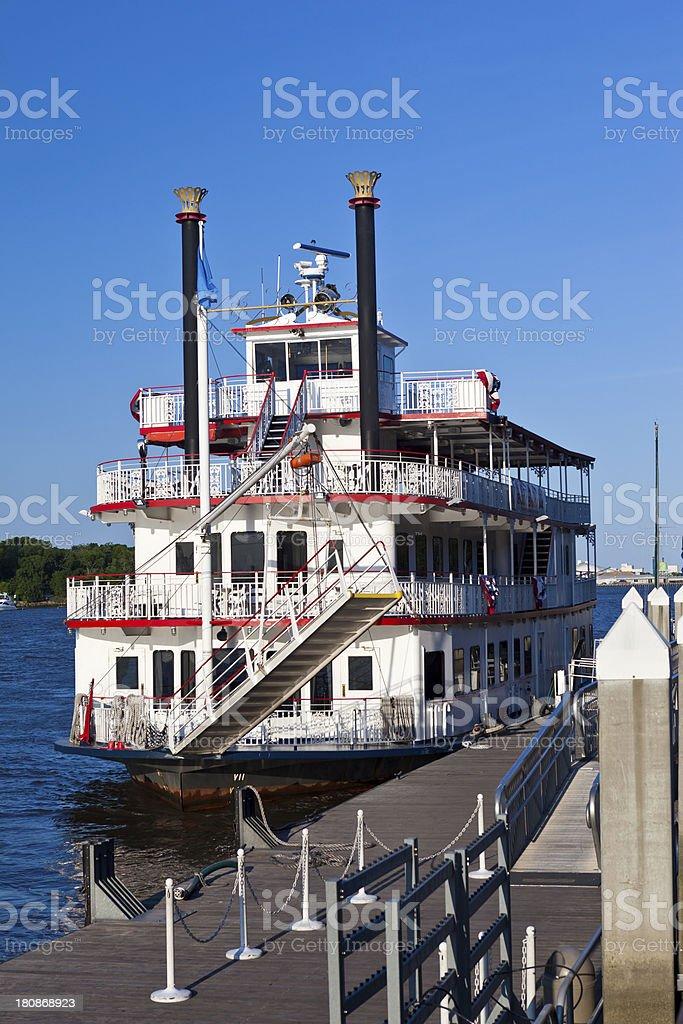 Savannah, Georgia Riverboat stock photo