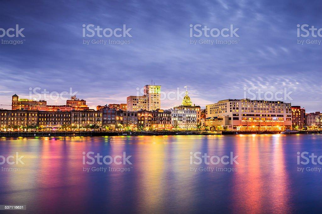 Savannah, Georgia Riverfront stock photo