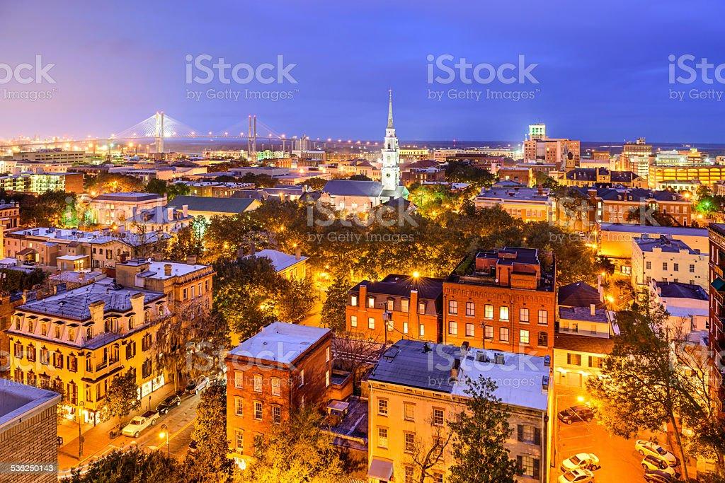 Savannah, Georgia Skyline stock photo