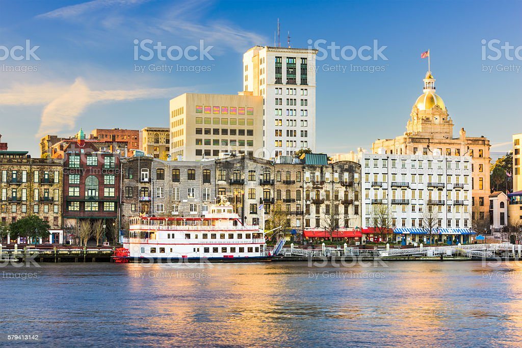 Savannah Georgia Skyline stock photo