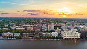 istock Savannah, Georgia, USA Downtown Skyline Aerial 1191535718