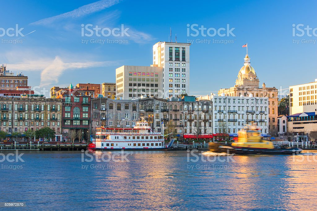 Savannah Georgia USA stock photo