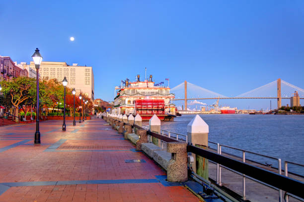 Savannah, Georgia Waterfront stock photo