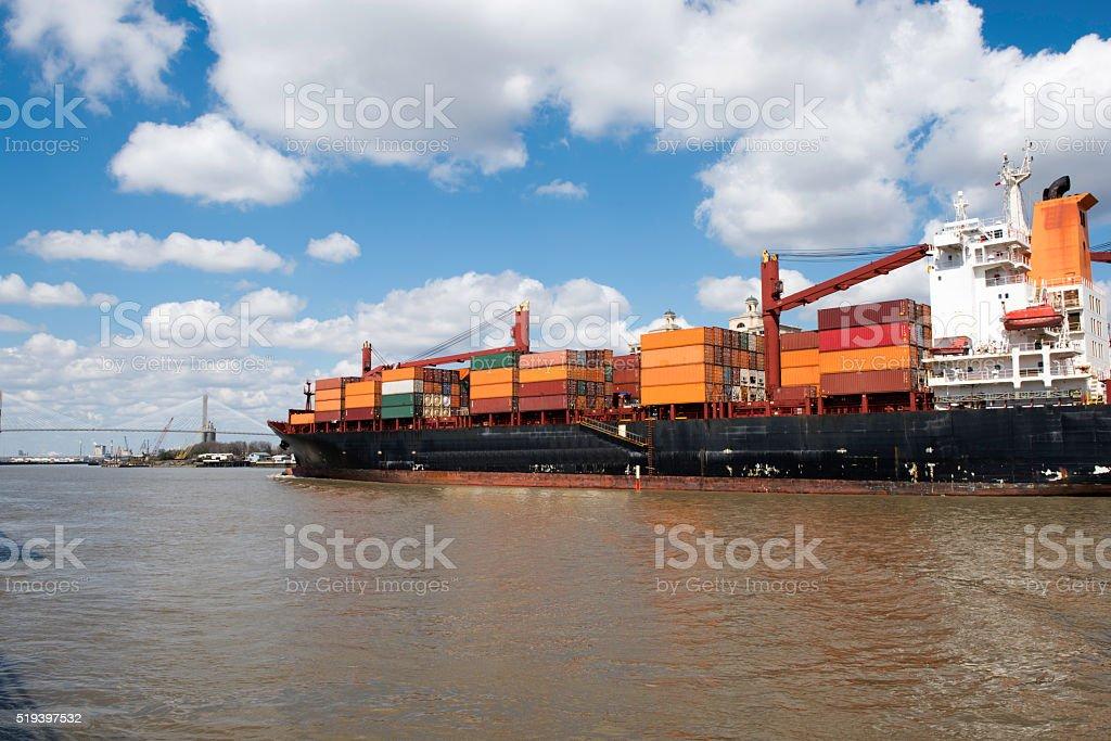 Savannah Harbor stock photo