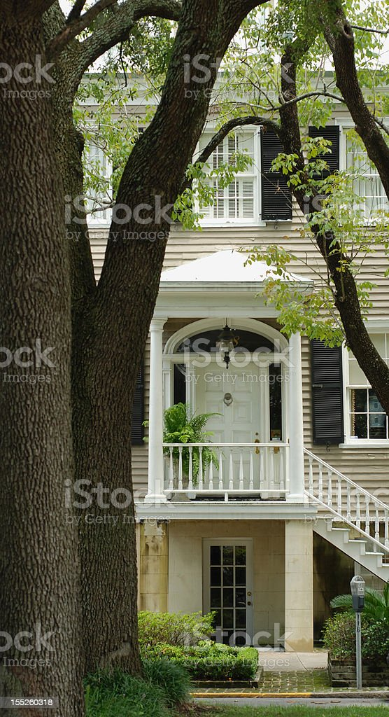 Savannah Home Entrance royalty-free stock photo