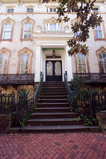 Savannah Mansion stock photo