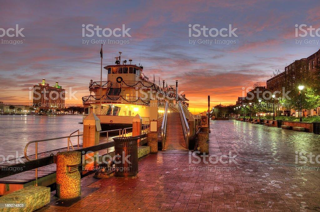 Savannah Waterfront stock photo