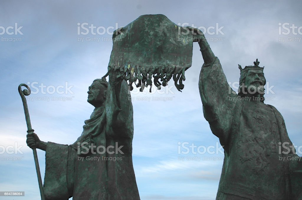 Save Download Preview Statue of the Declaration of Arbroath, 1320 stock photo