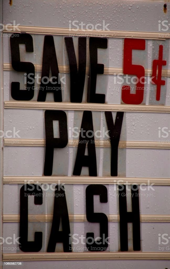 Save Five Cents stock photo