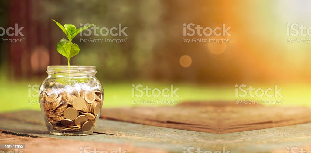 Save money banner stock photo