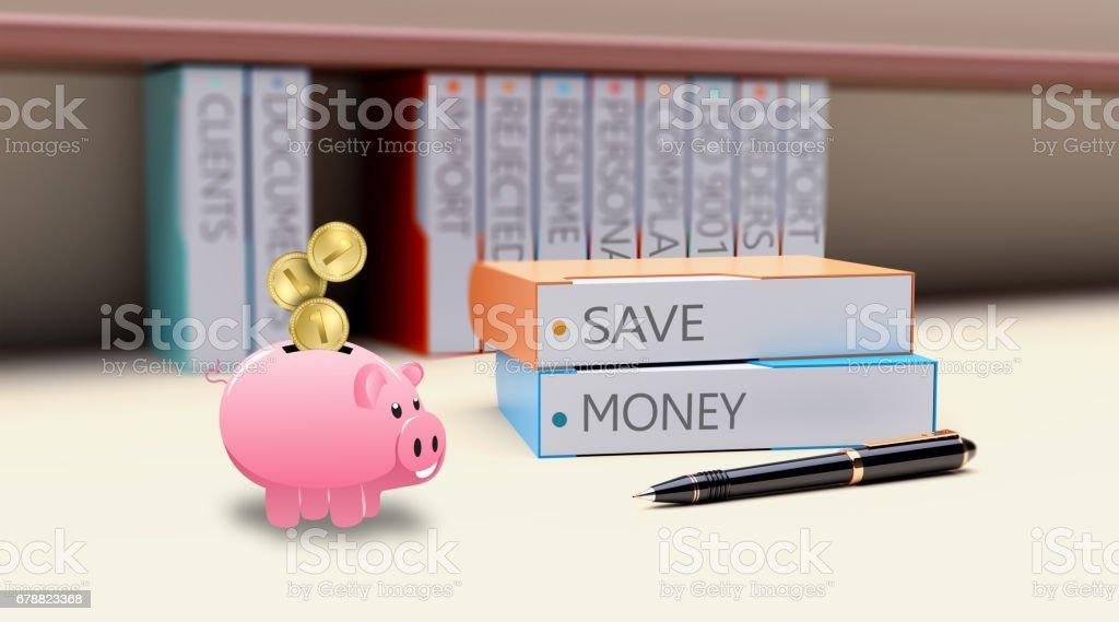 Save money concept royalty-free stock photo