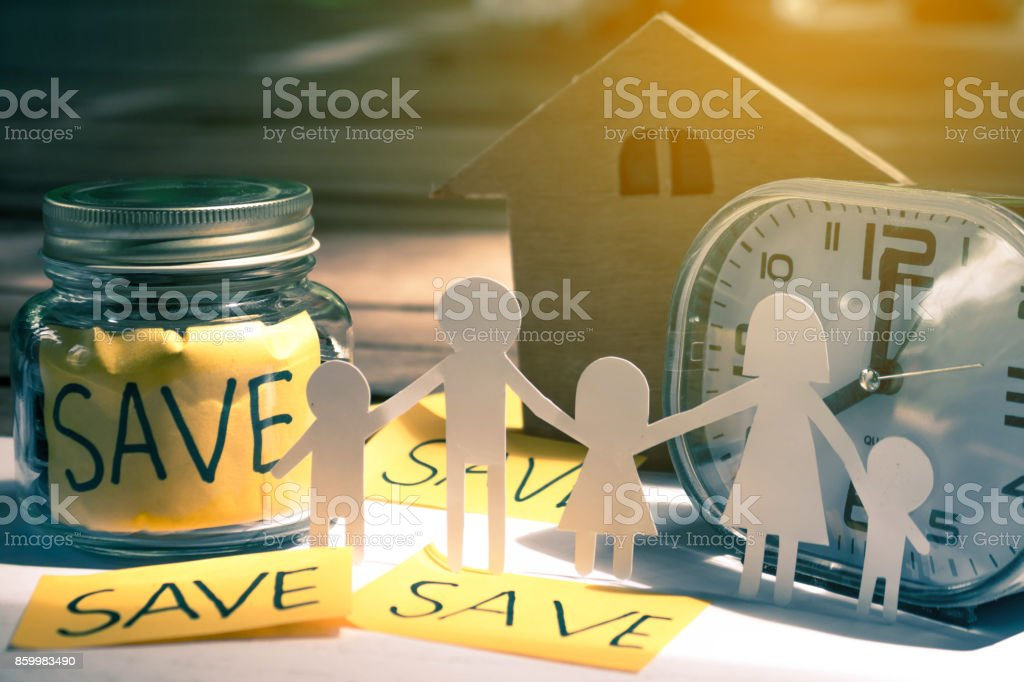 Save money concept save money for the future. stock photo