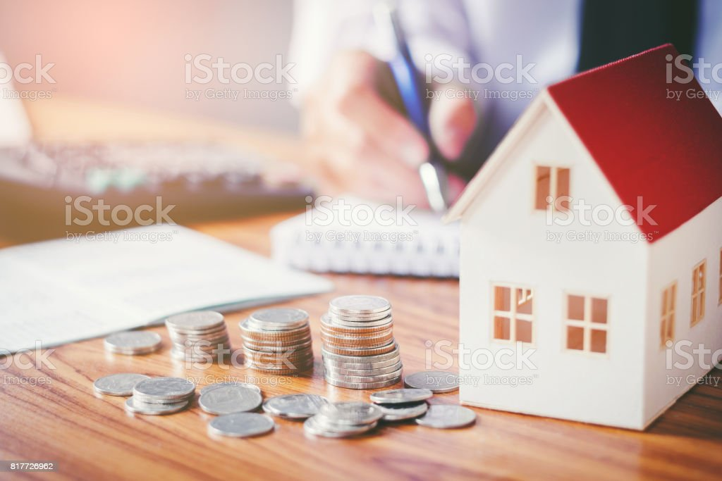 Save money for home cost royalty-free stock photo
