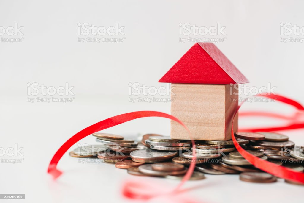 Save money for home cost stock photo