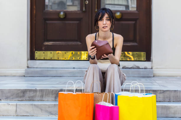 save more and spend less on black friday - commercial activity stock photos and pictures