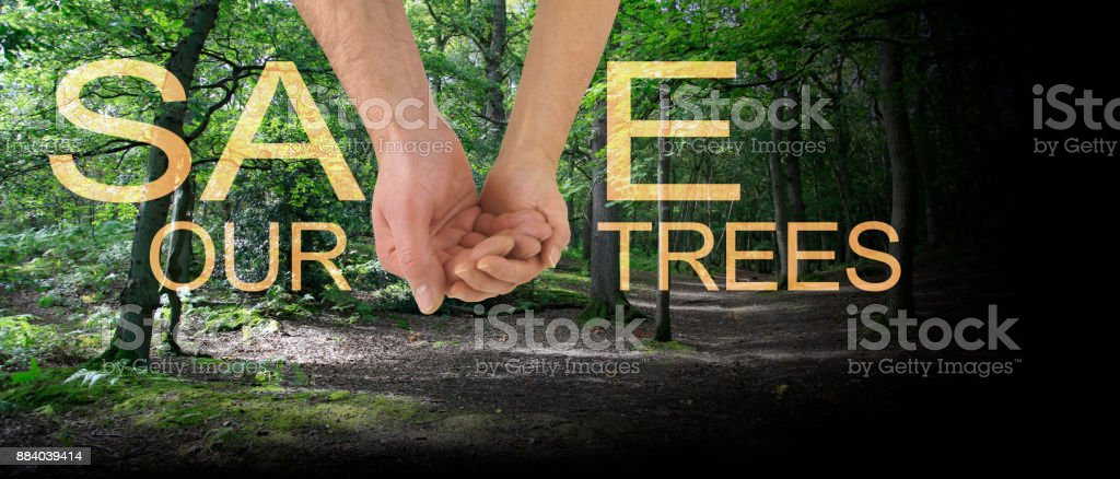 Save our Trees Banner stock photo