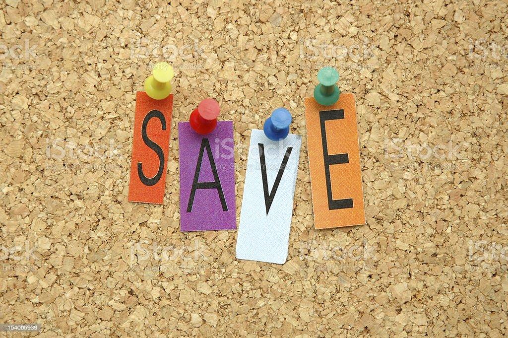 Save royalty-free stock photo