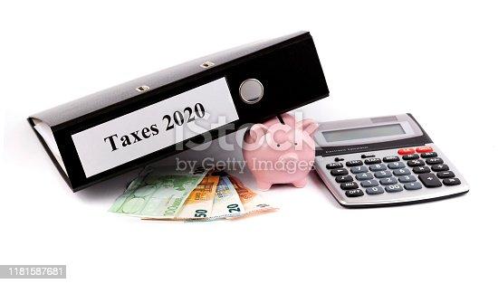 istock Save taxes! 1181587681