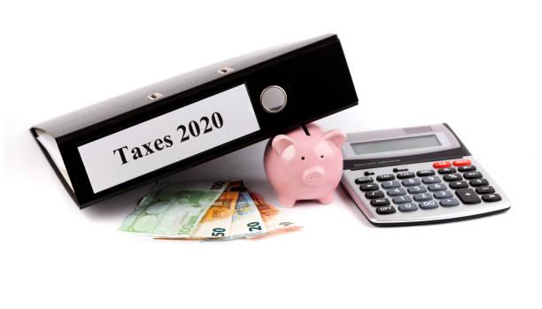 Save taxes! stock photo