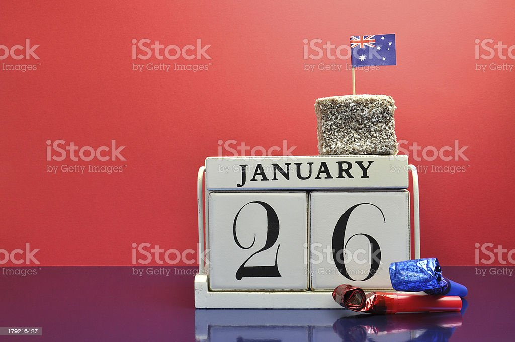 Save the date for Australia Day January 26 stock photo