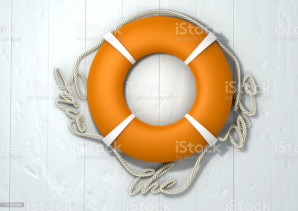 Save The Date Lifebuoy royalty-free stock photo