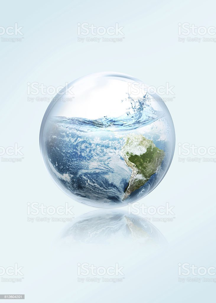Save the earth from El Ni No stock photo