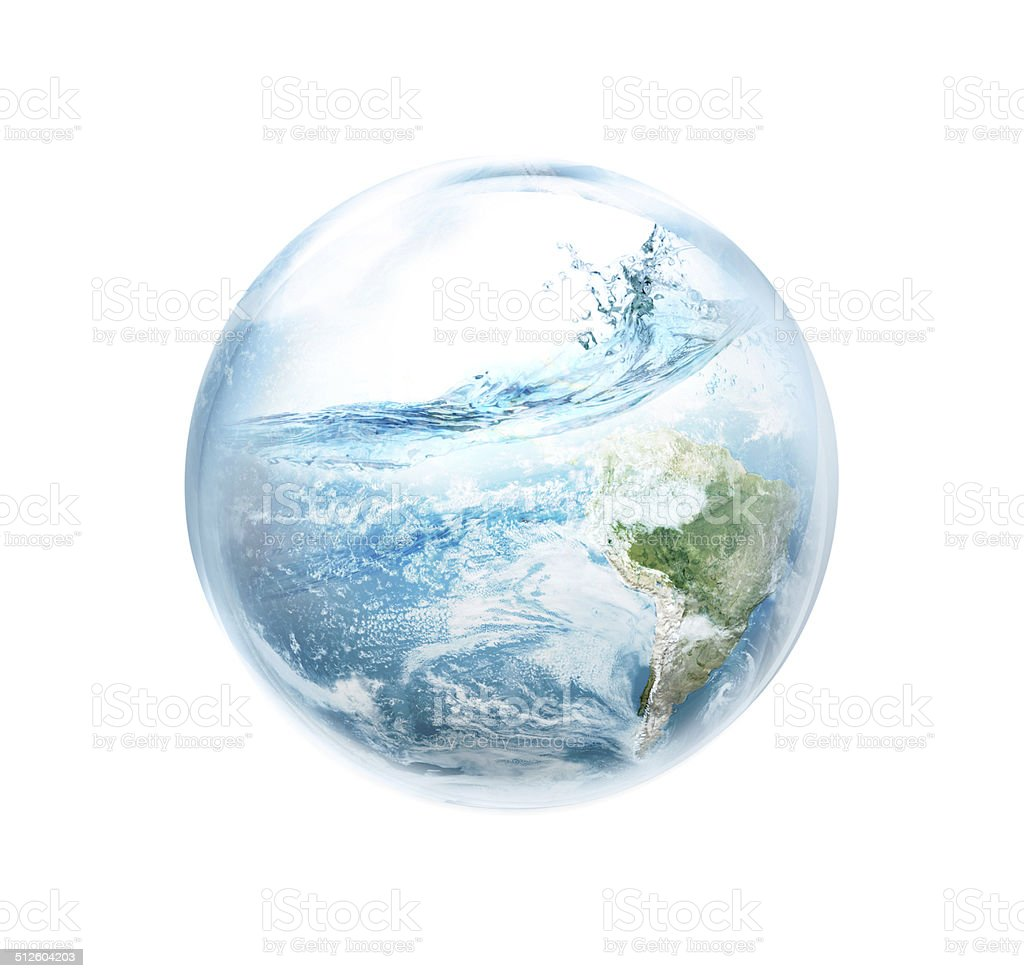 Save the earth from El Ni No. stock photo