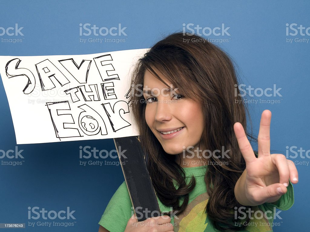 Save The Earth royalty-free stock photo