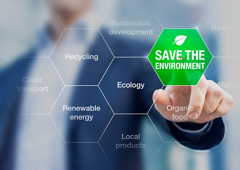 Save The Environment Icon Climate Change Conference Stock Photo - Download Image Now