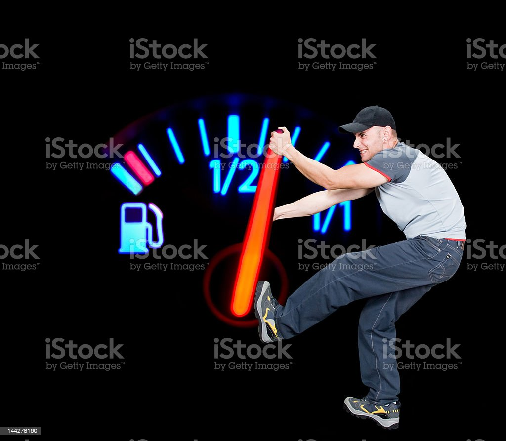 Save the fuel royalty-free stock photo