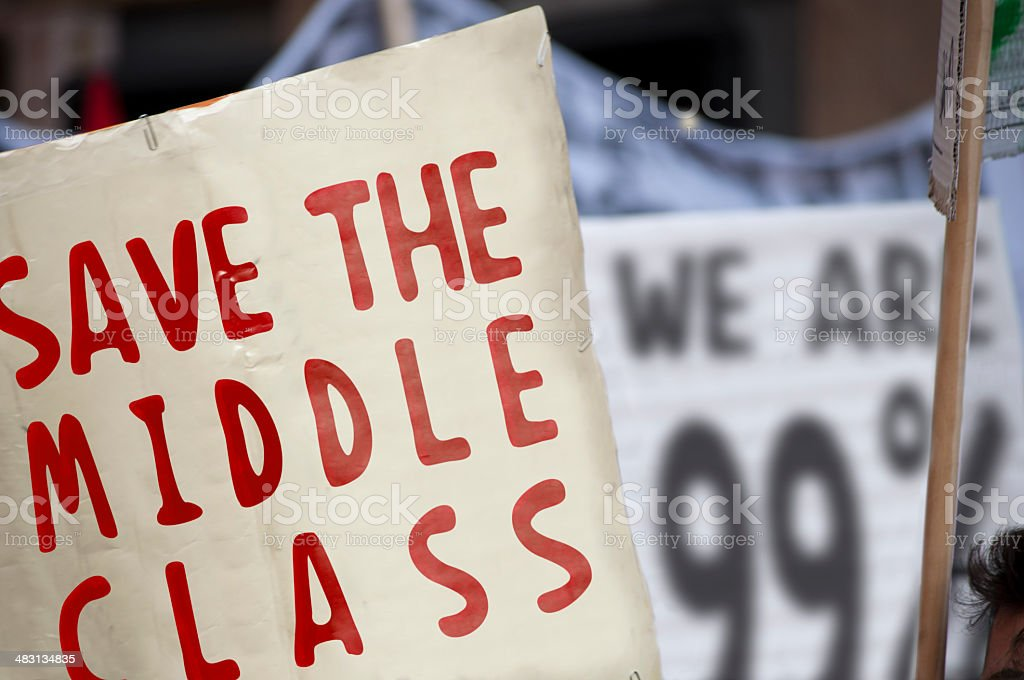 Save the middle class stock photo