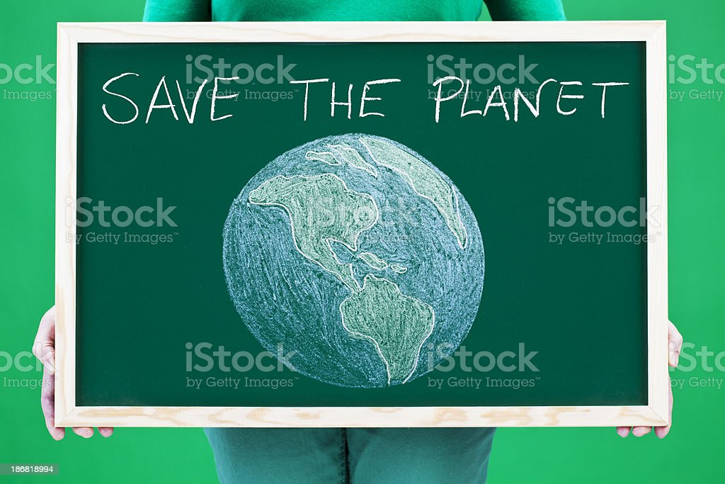 Save the planet royalty-free stock photo