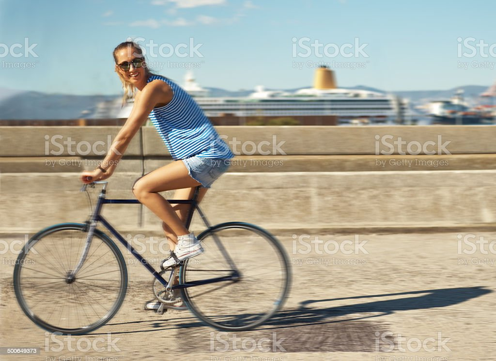 Save the planet. Ride a bike stock photo