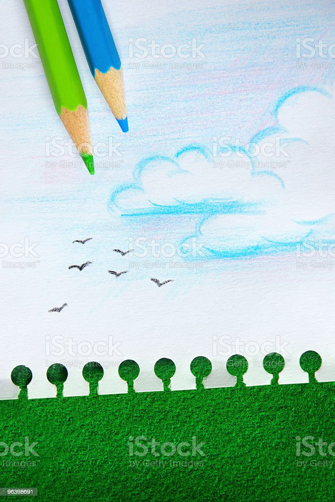Save The Trees - Royalty-free Blue Stock Photo