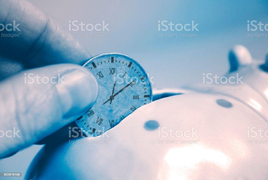 save time pot stock photo