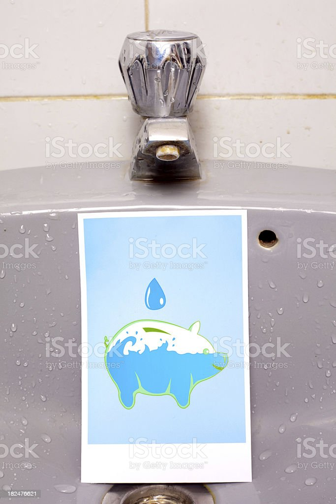 Save Water royalty-free stock photo