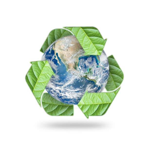 save world environmental, earth day, energy saving protection awareness campaign, csr concept: elements of this image furnished by nasa - biodegradabile foto e immagini stock