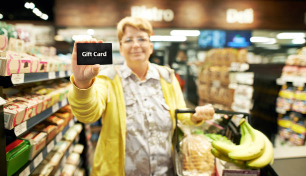 i saved so much with this shopping trip - gift voucher or card stock photos and pictures