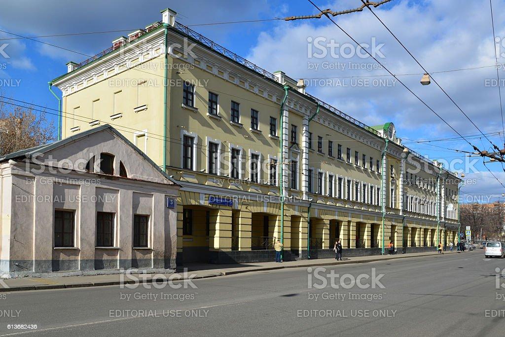 Savigny-wing manor Zakrevsky and Trust Investment Bank stock photo