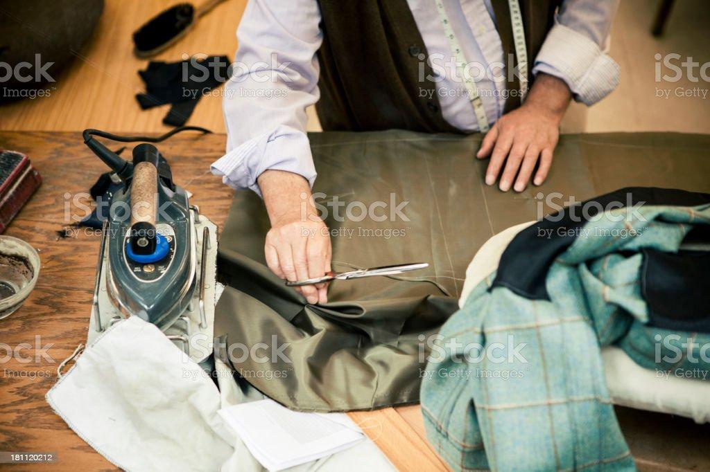 Savile Row tailor royalty-free stock photo