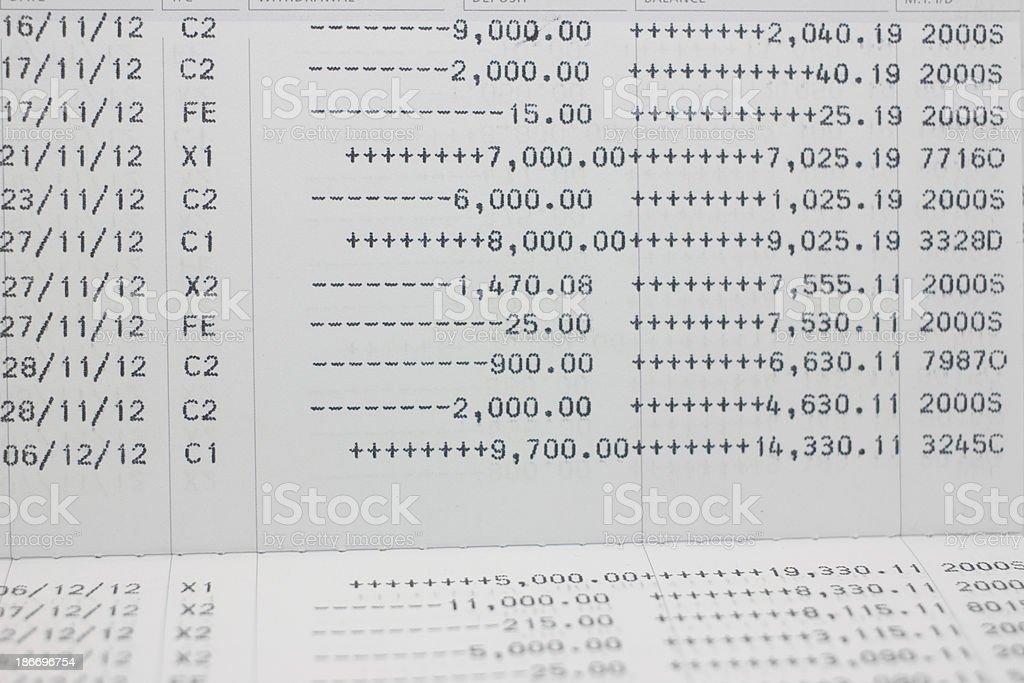saving account Passbook royalty-free stock photo